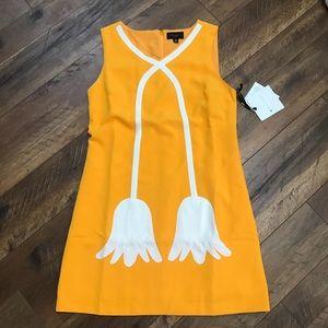 Victoria Beckham yellow dress w white tulip dress